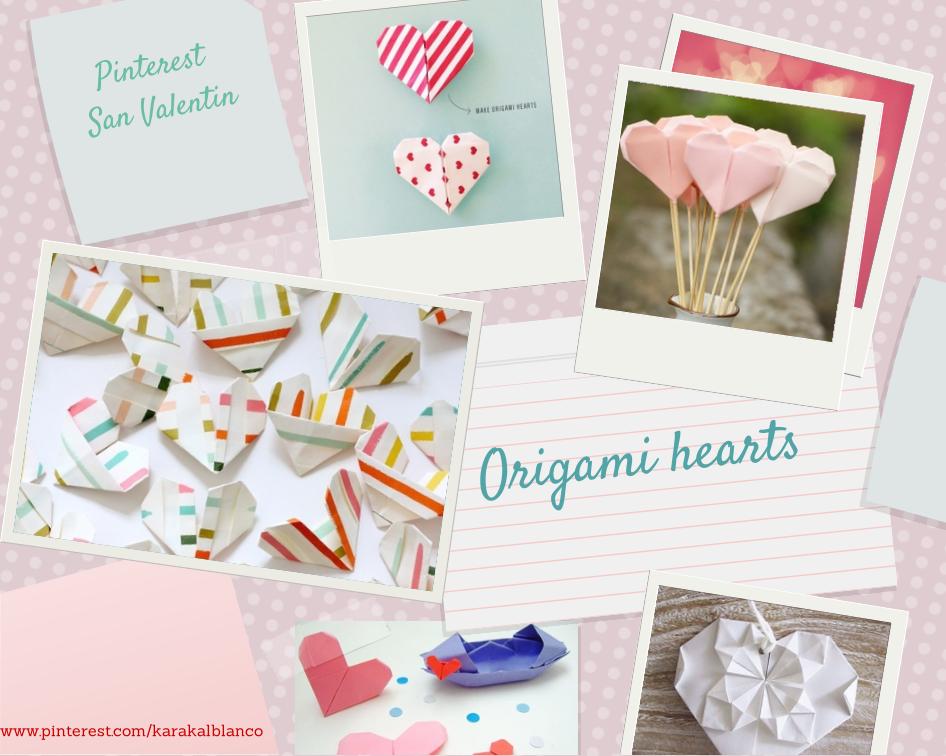 Origamis de corazones maravillosos