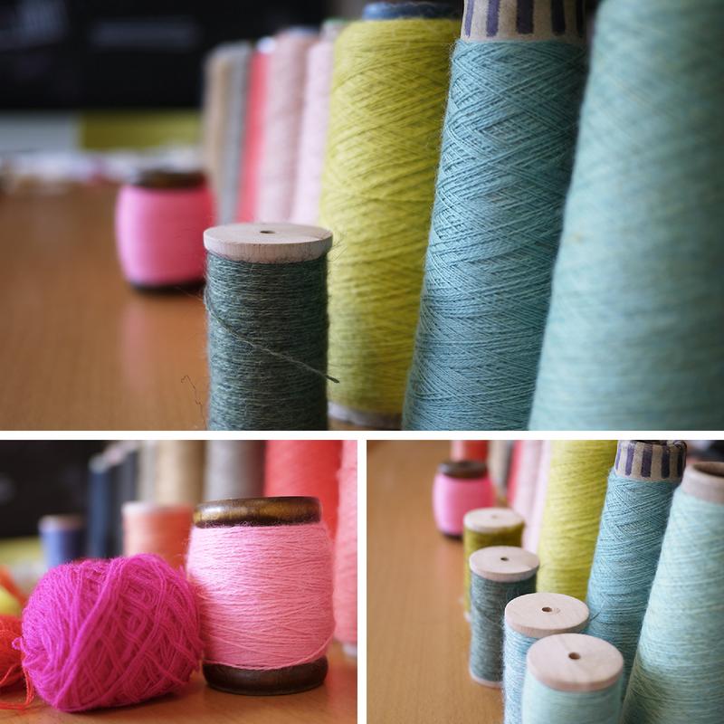 Con estas maravillosas lanas bordamos el caparazón de nuestro Coco Terráqueo